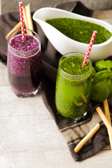 Green smoothies for a diet of spinach