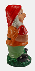 Gypsum dwarf figures