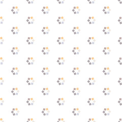 Seamless Colorful Abstract Pattern from Repetitive Squares