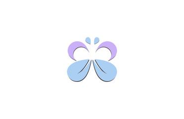 beauty leaf butterfly logo
