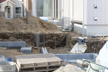 住宅 戸建て住宅建設現場 外構工事 イメージ