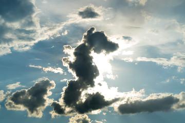 Sunshine and cloud sky is like dragon