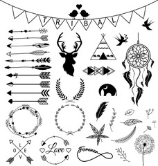 Hand drawn arrows Tribal designs