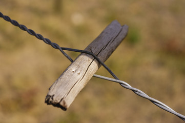Twitch stick or spanish windlass fence wire tightener