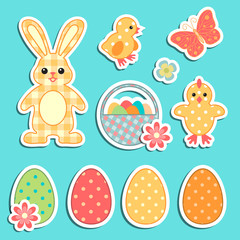 Easter colorful icons