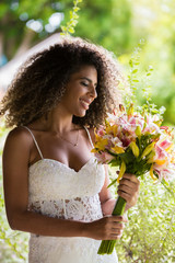 Bride / Beautiful bride holding her bouquet