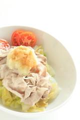 Japanese food, Reishabu pork salad