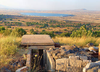 View on the territory of Syria from the Golan Heights