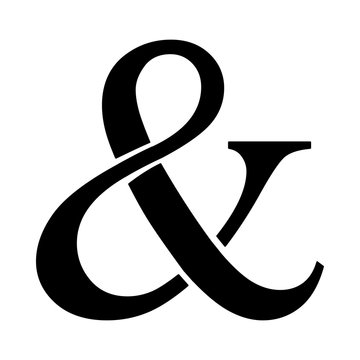 Ampersand vector icon
