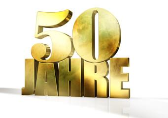 50 Jahre - Typo Gold 3d