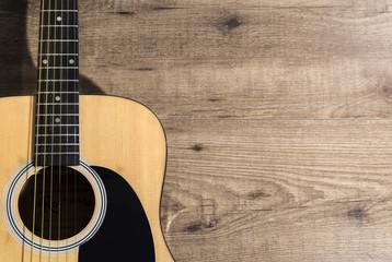 Fondo con guitarra acústica