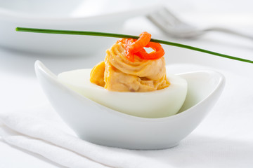 Stuffed egg appetizer