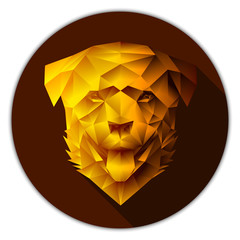 Vector low poly rottweiler