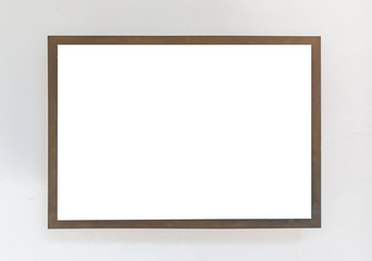 Blank signboard template for text on  the wall.