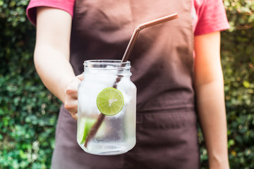 Diet lime Infused detox water