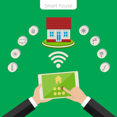 Concept of smart house.