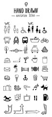 Big set of icons doodle sketch