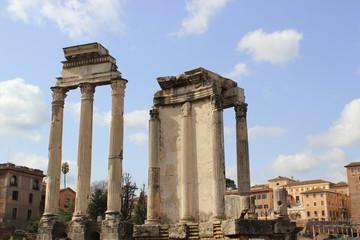 Forum Romanum: Castor und Pollux-Tempel und Tempel der Vesta (Rom)