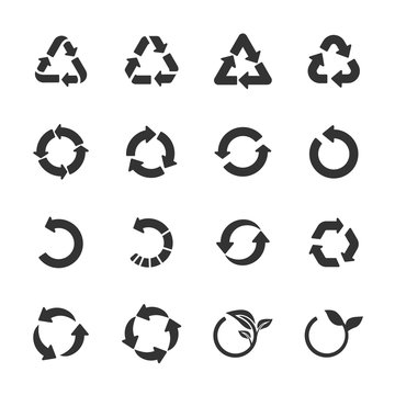recycle icon set, vector eps10