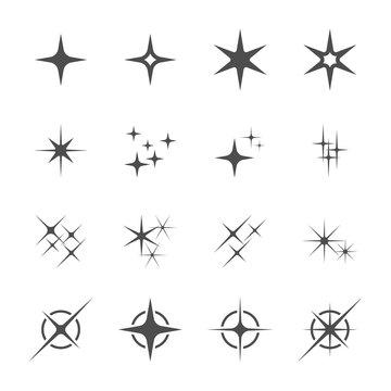 sparkles icon set 6, vector eps10