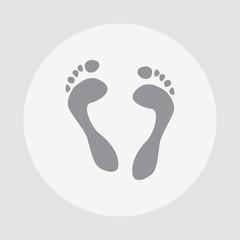 Footprint icon. Footprint vector illustration. Footprint illustration. Footprint isolated background. Next icon legs.