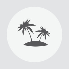 Tropical vacation. Palm isolated background. Palm icon. Palm vector illustration. Tropical island. Concept leisure travel tourism. Hawaii island illustration.