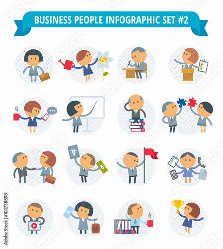 Free Infographic free infographics icons : Vector flat infographic elements set. Professions people icon set ...