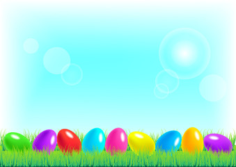 Vector illustration of Happy Easter background