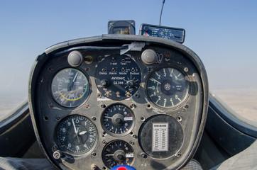 old fashioned  glider dashboard