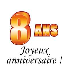 8 ans carte de vux joyeux anniversaire - Anniversaire 8 Ans