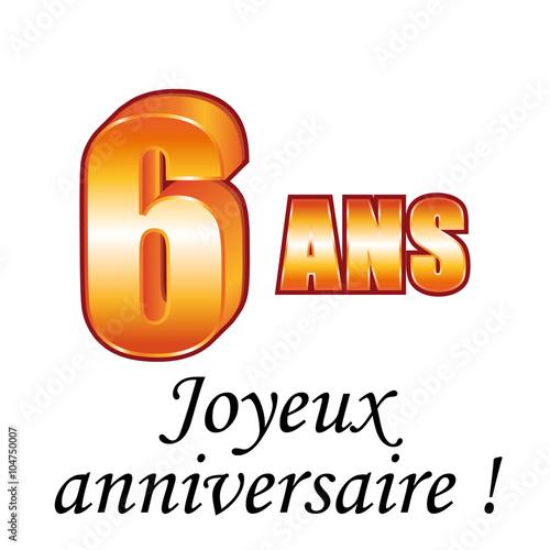 8 Ans Carte De Vœux Joyeux Anniversaire Stock Image And Royalty