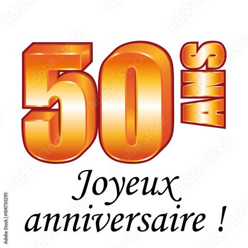 50 Ans Carte De Vœux Joyeux Anniversaire Stock Image And Royalty
