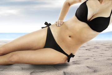 woman and bikini