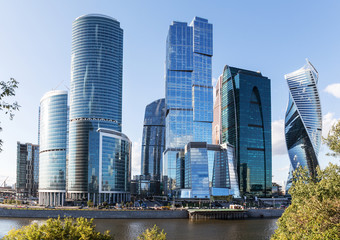 Moscow city (Moscow International Business Center), Russia