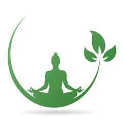 Yoga-Icon - Meditation (in Grün)