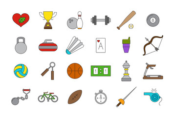 Vector sport icons set