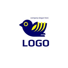 Vector of bird icon. Focus. Symbol icon or logo for photography. Business icon for the other company. Design element. Vector illustration.