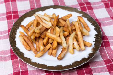 Fried french fries served on a plate