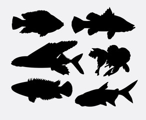 Fish animal silhouette 2. Good use for symbol, logo, web icon, mascot, sign, or any design you want. Easy to use.