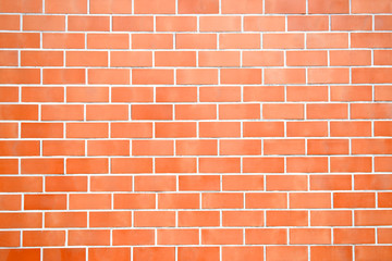 New perfectly brick wall background. Best clean brick wall. Close up. Front view.
