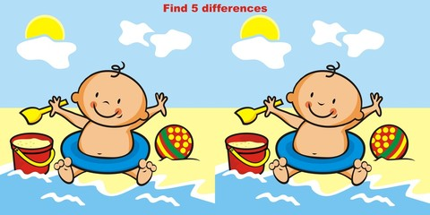 game, find 5 differences