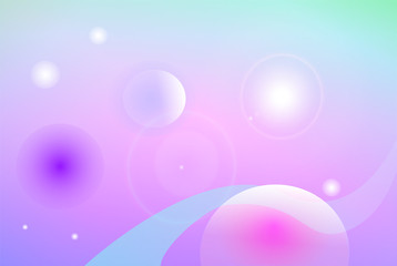 Sweet space landscape with celestial bodies abstract vector background