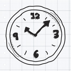 Simple doodle of a clock