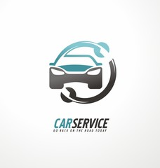 Car abstract vector icon design concept