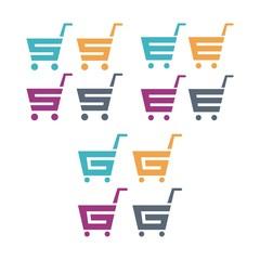 Shopping Cart Logo, Letter S, E, G, Design Vector Logo