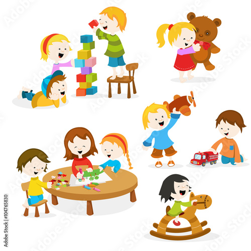 children playing toys clipart - photo #21