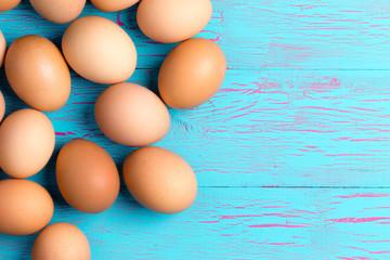 Fresh healthy brown eggs for breakfast