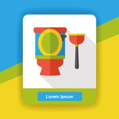 Toilet plunger flat icon