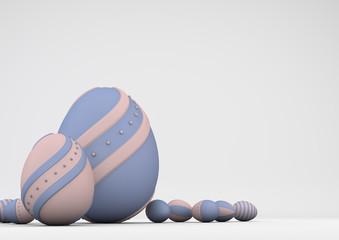elegant colored Easter eggs