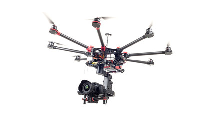 Drone, octocopter, copter Wall mural